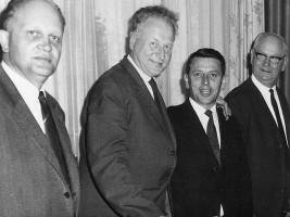 OB Wolfgang Stammberger, LV Waldemar von Knöringen, Heiner Schneier, MdB Rudolf Metter