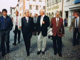 Haßfurt 2001 Werner Holzinger, Johannes Rau, Hans-Martin Kehl, Ludwig Leisentritt