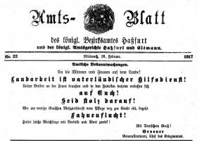 Aufruf 1917