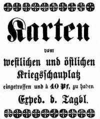 Karten Kreigsschauplätze 10.1914