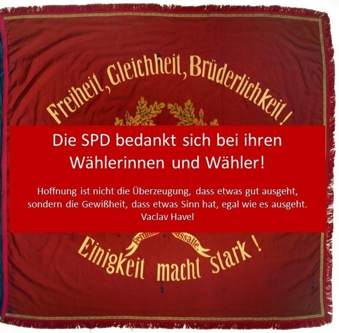 Die SPD bedankt sich